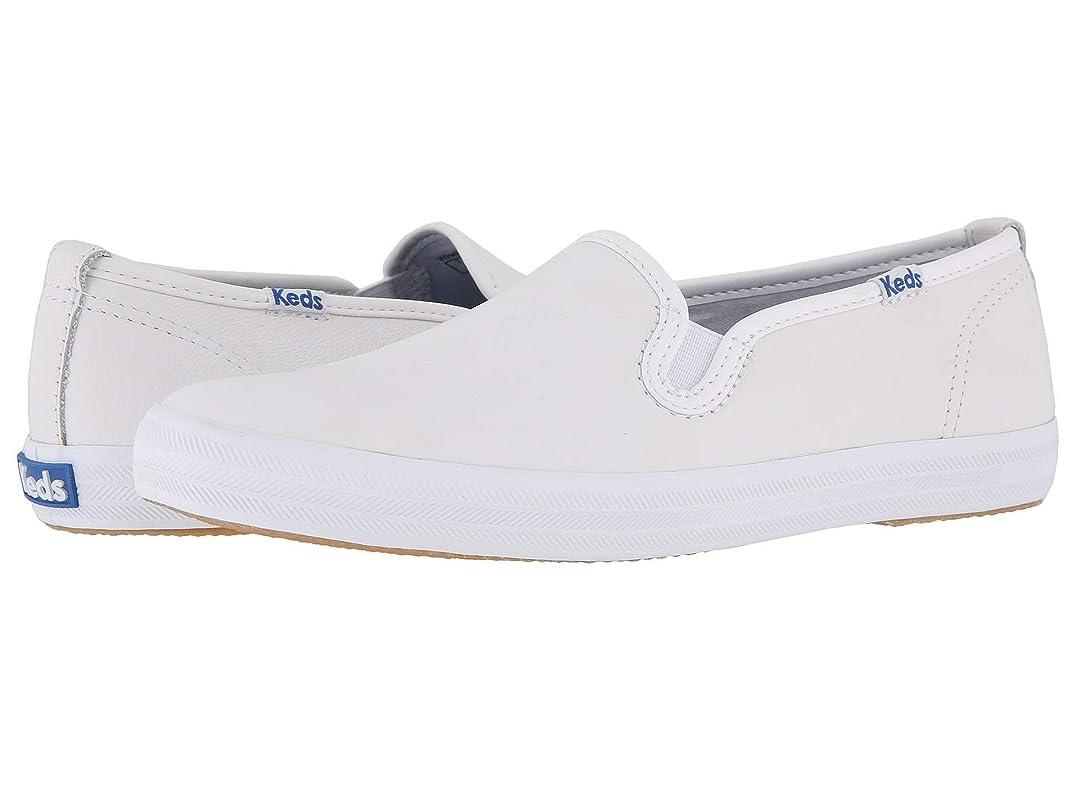 攻撃摩擦用量[ケッズ] カジュアル スニーカー Champion-Leather Slip-On White Leather (並行輸入品)