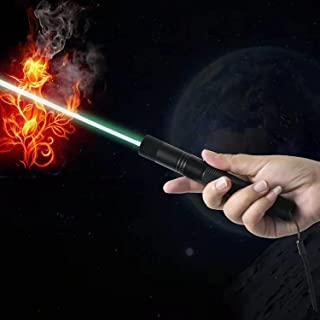 LED Tactical Flashlight, Super Bright LED Flashlights Portable Outdoor High Power Green Pointer, USB Charging Long Range T...