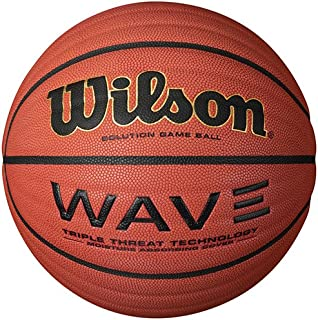 Wilson Indoor Faux Leather Basketball in Brown