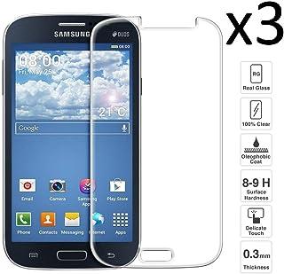 iGlobalmarket [3 Unidades Protector de Pantalla Samsung Galaxy Grand Neo/Duos i9082 i9080, Vidrio Templado, sin Burbujas, Alta Definicion, 9H Dureza, Resistente a Arañazos