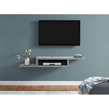 Prepac Altus Plus 58 Floating Tv Stand White Electronics