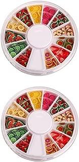 EVERMARKET Nail art Tools 144 pcs 3D FIMO Slice Fresh Fruit Face Nailart Decoration (2 Pack)