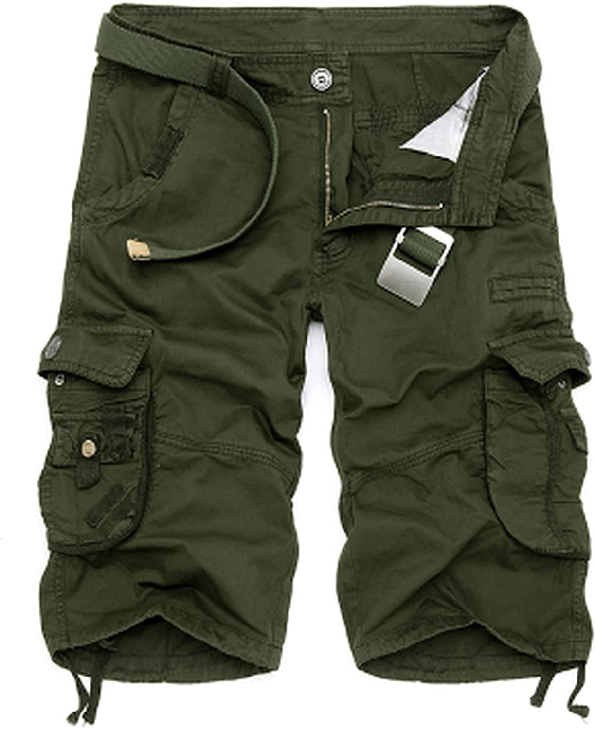 Lanng Mens Military Cargo Shorts New Army Camouflage Tactical Men Cotton Loose Work Casual Short Pants Plus Size