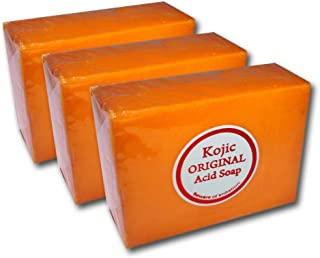 Professional Skin Care Formula 3 Bars Kojic Whitening Soaps (2.3 ounces each; total 6.9 ounces) by Kojico Ent.