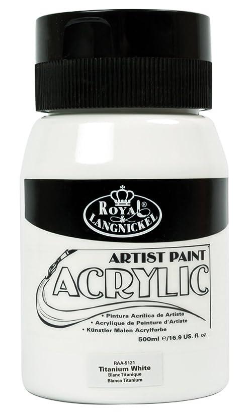 Royal & Langnickel Essentials Acrylic Jar Paint, 500ml, Titanium White