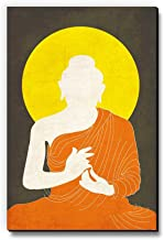 Seven Rays MDF Buddha Drape Fridge/Multipurpose Magnet (Orange)