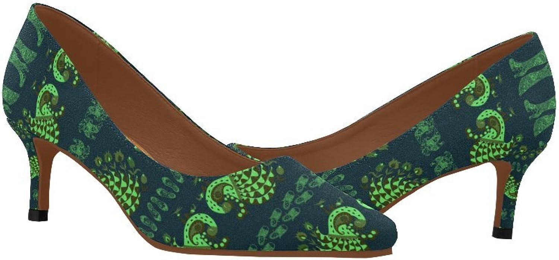 Women's Low Kitten Heel Pointed Toe Dress Pump shoes