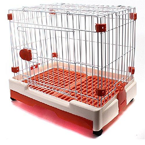 Uiophjkl veilig en comfort huisdier vouwen hond kooi hond huis vet draad kooi VIP verhouding beer kennel kat kooi hek wielen. Geschikt voor honden en katten