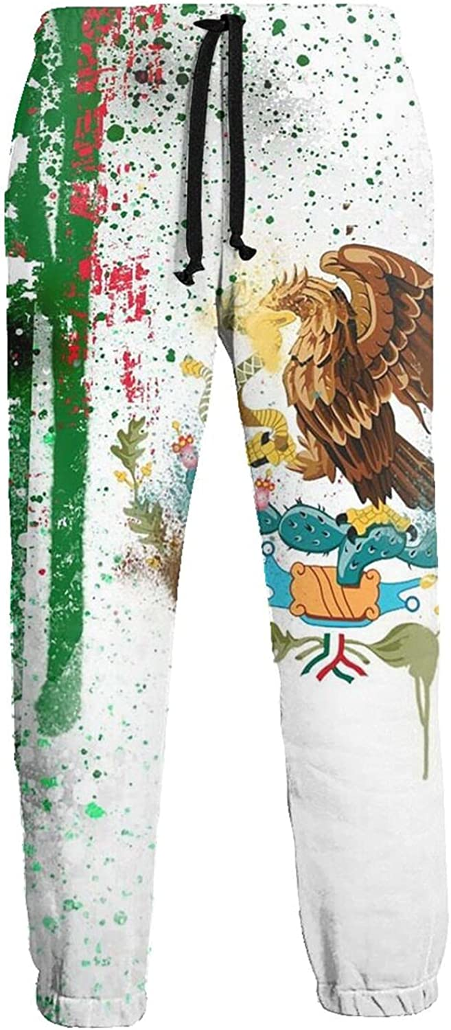 Men's Women's Sweatpants Mexican Flag Splashes Athletic Running Pants Workout Jogger Sports Pant