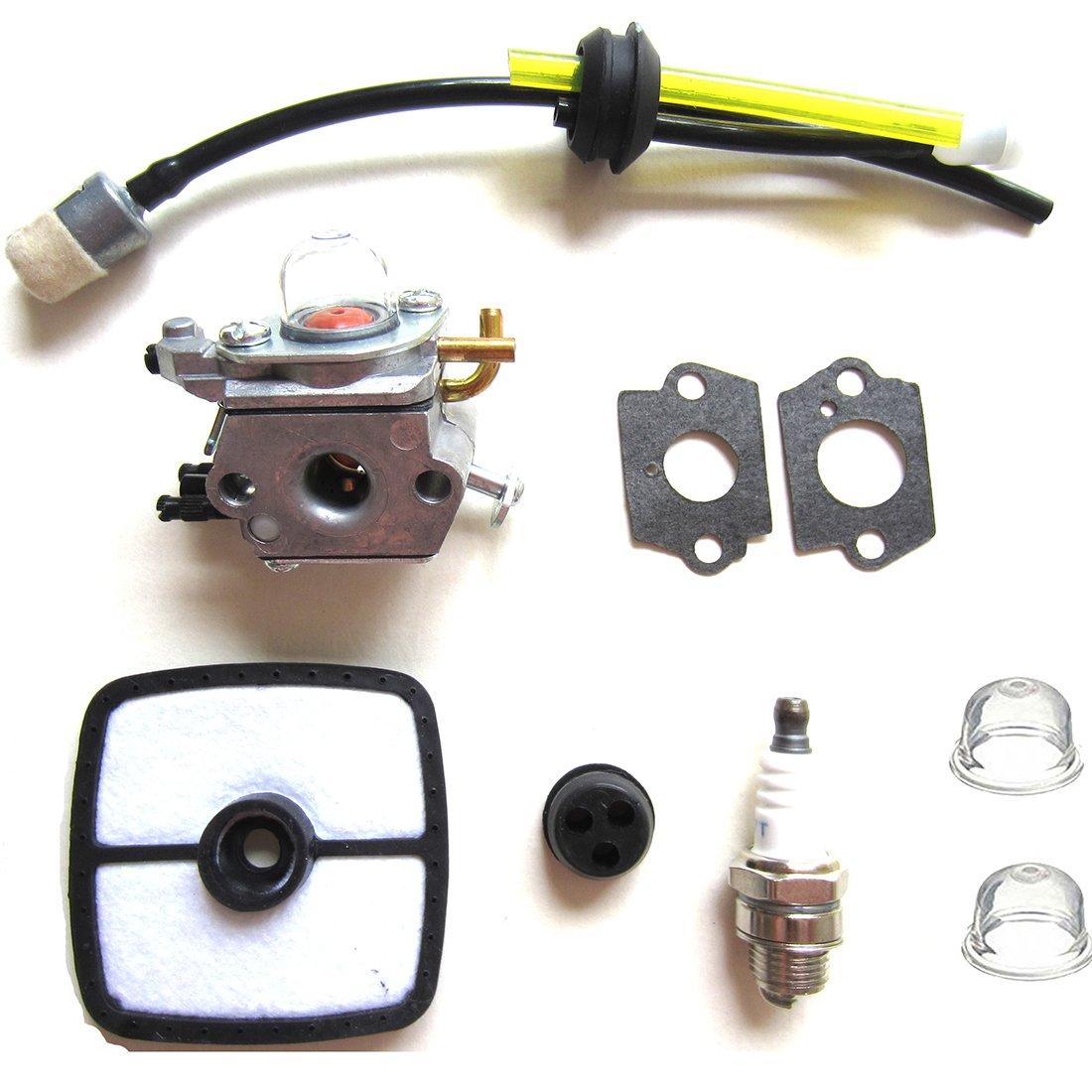Mckin C1U-K42 Carburetor for Echo PB2100 ES2100 PB2155 Blower C1U-K42B C1U-K42A 12520020563 12520020564 12520020562 12520020561 12520020560 with Fuel Filter Air Filter Fuel Line Spark Plug kit