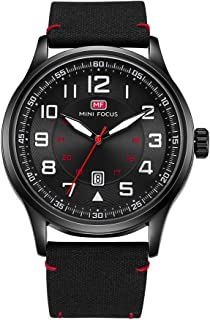Men's Watches Waterproof Face Big Number Design Easy to Read Minimalist Quartz Wrist Watches
