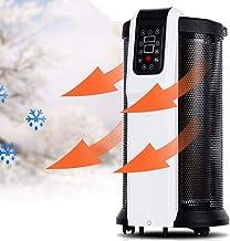 NFJ Calefactor Cerámico,Termoventilador Portátil, Calefactor Cerámico Termoventilador,High Tower Heat Deluxe Calefactor Cerámico - Termostato,2200 W, para Cuarto/Oficina,Black-2000W
