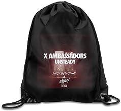 Etryrt Mochilas/Bolsas de Gimnasia,Bolsas de Cuerdas, Gym X Ambassadors Unsteady Album Cover Drawstring Backpack Bag for Men Women