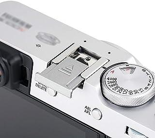JJC Silver Hot Shoe Cover Cap Protection för Fujifilm Fuji X-S10 X-T1 X-T2 X-T3 X-T4 X-T10 X-T20 X-T30 X-T100 X100V X100S ...
