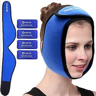 Face Ice Pack för käke, huvud och haka – varm och kall gelpaket för visdomständer, käk/haksmärta, TMJ smärtlindring, tands...