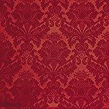 Made'n Ready Tessuto Arredamento Damascato al Metro Rosso-Style 235 h.280