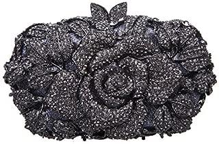 Fawziya Rhinestone Rose Clutch Purses And Handbags For Womens Bags