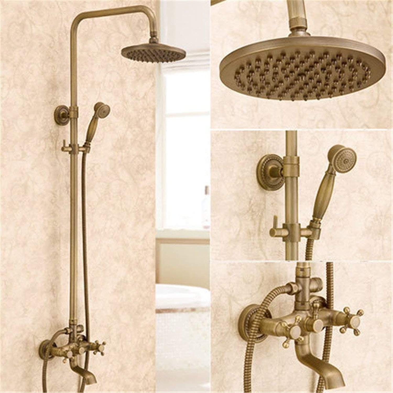 Europischen archaize Dusche Wasserhahn Dusche an der Wand heben Duschkopf handheld Sprinkleranlage voll Kupfer Duschsystem Armatur