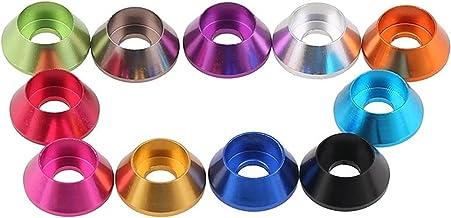 Lnanqing-Seal Washer 10 stks Aluminium Wasmachines M2 M2.5 M3 M4 M5 M6 Geanodiseerde Kleurrijke Aluminium Wasmachine Voor ...