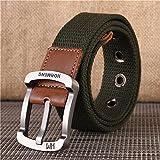 BT.CE Cinturón De La Juventud De La Lona De Los Hombres Cinturón De La Correa del Estudiante Coreano Hebilla Rectangular Belt125Cm