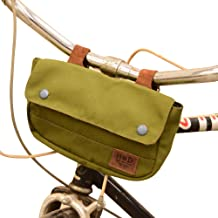 Hide & Drink, Water Resistant Canvas Bike Pannier/Bicycle Handlebar Storage, Outdoors Essentials Handmade :: Olive