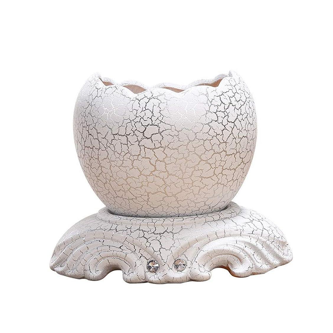 才能のある迫害ツインYYQIANG 手作りの陶器プランター装飾壁PlantersSphericalフラワーポットリビングルームのベッドルームの装飾セラミックフラワーポットトレイ(カラー:ホワイトサイズ:15cmx19cm) (Color : White)
