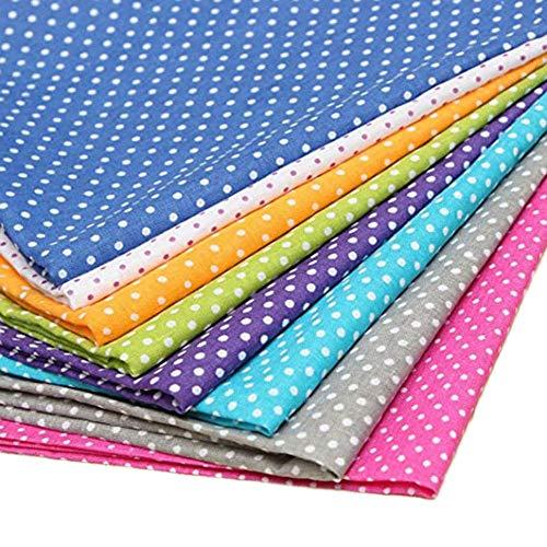 Westeng 8 Stück Punkt Baumwoll-Patchwork DIY Nähen Patchwork Quilting Puppe Tuch Handgefertigte Hand Stoff Quadrate Baumwollstoff 25 x 25 cm