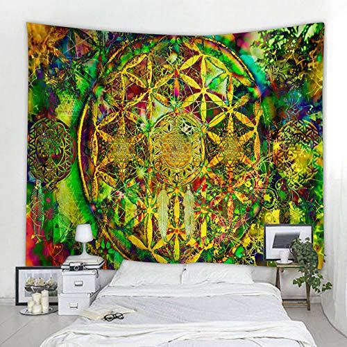 Hermosa mandala estampado de flores colgante de pared hippie colgante de pared bohemia manta colgante de pared mandala manta de tela de pared A2 100x150cm