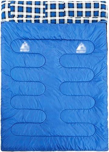 Yiiquanan Sac de Couchage pour Adultes, épaissir portable Double Sac de Couchage de Compression pour Voyage Camping