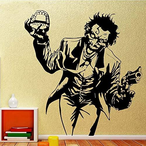 WERWN Arte Creativo Payaso Dormitorio de los Hombres Pegatinas de Pared Creativas decoración de la Pared