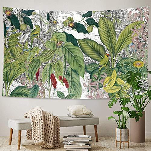 Tapiz de planta tropical colgante de pared hojas de palma patrón de flores tapiz bohemio decoración del hogar sábana de playa mat-150x200cm