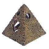 Xuniu Acuario Resina pirámide egipcia rocalla escondite Cueva pecera Ornamento decoración (11x12.5cm)