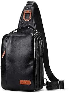 Sling Shoulder Chest Bags Crossbody Triangle Pack Rucksack for Hiking or Multipurpose Daypacks and School Handbag for Man Women Girl (Color : Black, Size : M)