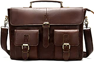 Leather Briefcasefor Men, Handmade Leather Messenger Bag-Men Business Tote, Crossed Briefcase Leather Crossbody Bag