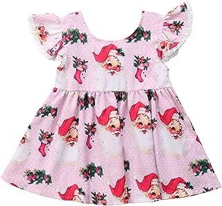 INHoney Christmas Dress for Baby Girls Santa Baby Toddler Dress
