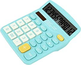 $24 » WXIANG Calculator Desktop Colorful Calculator Standard Functional Desktop Calculator Solar and Battery Dual Power Electron...