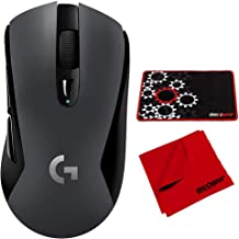 Logitech G603 LIGHTSPEED Wireless Gaming Mouse Bundle with Deco Gear Medium Sized Pro Gaming Mouse Pad Water Resistant Non-Slip and Microfiber Cleaning Cloth
