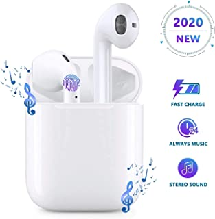 Bluetooth Earbuds Built-in Mic Headphones for HiFi Stereo Sound 5-6 Hours Long Playtime Noise Cancelling Earphones with Airpods Charging Case - 3
