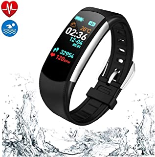 PGTC Fitness Wristband GPS Running Tracker Watch with Heart Rate Monitor, Blood Pressure Test, IP68 Water Resistant Smart Bracelet with Calorie Counter Pedometer Watch for Android and iOS