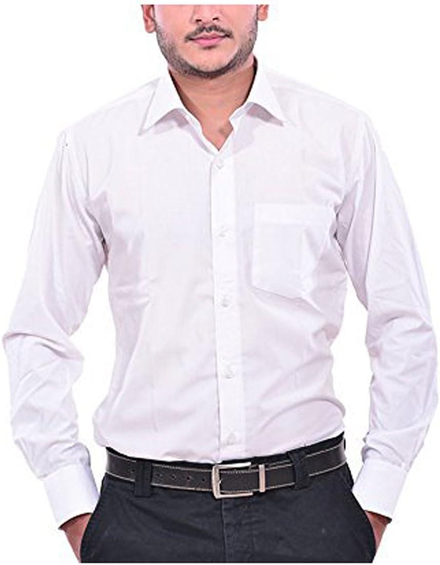 Royal Kurta Men's CottonFormal Shirt with Tie