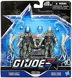 G.I. Joe, 50th Anniversary, Zombie Patrol Action Figure Set (Zombie-Viper vs Vibora Zombie), 3.75 Inches