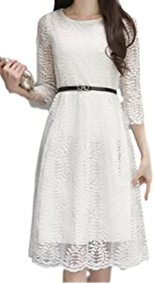ts-store Women's Floral Lace Pierced Slim Party Cocktail Dress