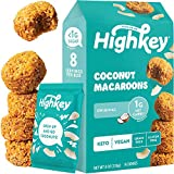 HighKey Keto Snacks - Vegan Cookies - Low Carb Coconut Macaroons - Healthy Treat - Gluten Free Cookie - Individually Wrapped Macarons - Low Sugar Diabetic Snack - Paleo Food - Macaroon - Original