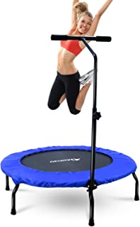 4ActiveU 40-Inche Foldable Mini Trampoline for Adults Kids   Indoor and Outdoor Fitness Rebounders Exercise Trampoline with Adjustable 3-Level Heights   Upgrade Cardio Trainer Max Load 265lbs