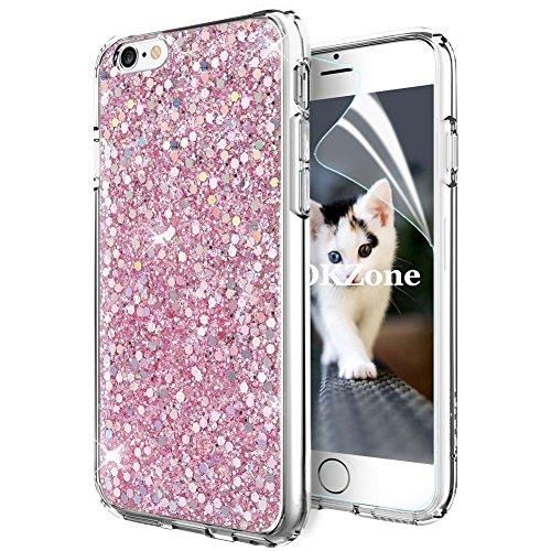 OKZone Cover iPhone 6S,Custodia iPhone 6 Custodia Lucciante con Brillantini Glitters Ultra Sottile Designer Case Cover per Apple iPhone 6 / iPhone 6S 4.7 Pollici (Rosa)