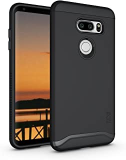 TUDIA Merge LG V35 ThinQ Case with Heavy Duty Extreme Protection/Rugged but Slim Dual Layer Shock Absorption Case for LG V35 ThinQ (Matte Black)