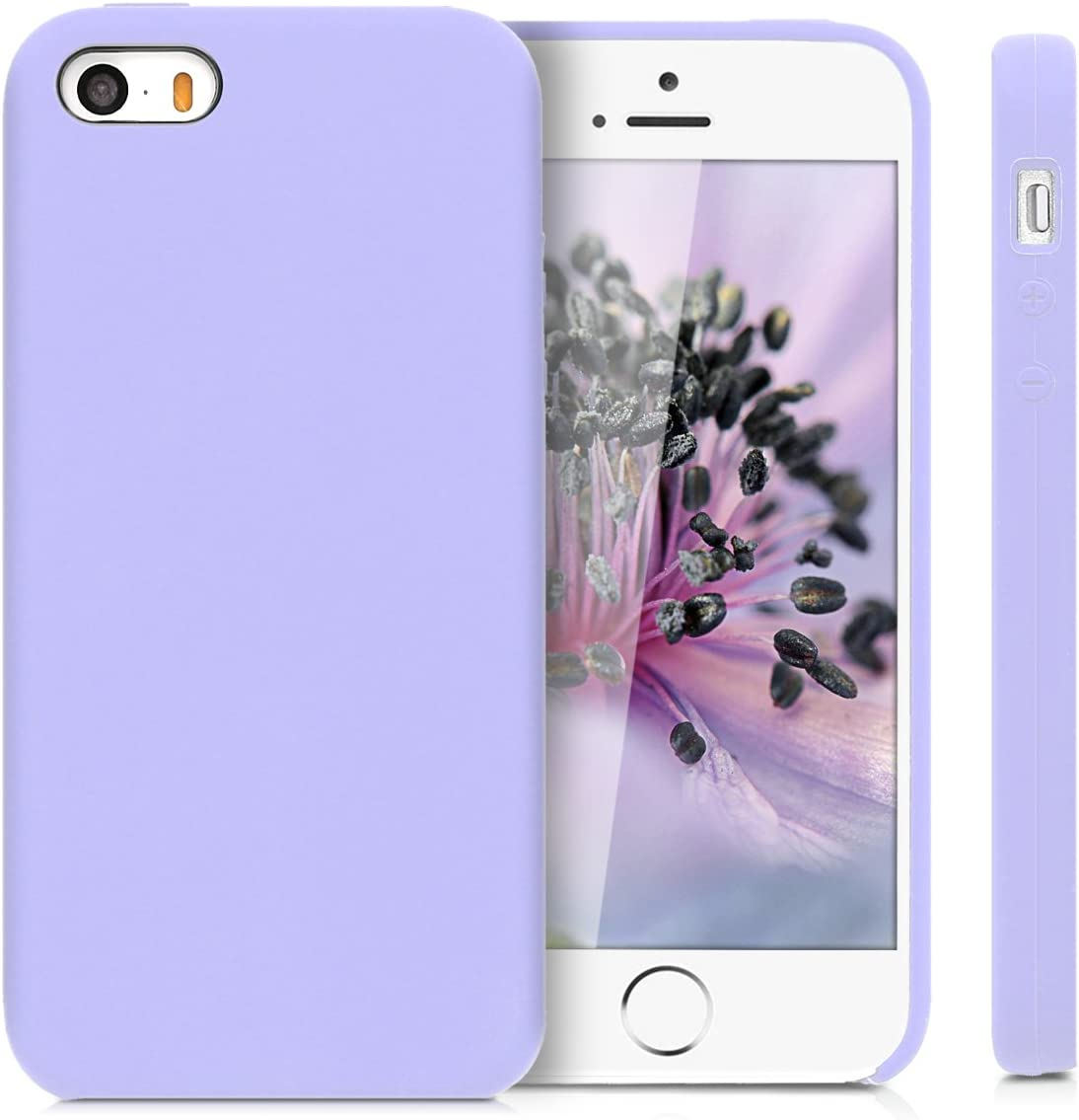 kwmobile TPU Silicone Case Compatible with Apple iPhone SE (1.Gen 2016) / 5 / 5S - Case Slim Phone Cover with Soft Finish - Lavender
