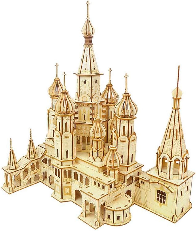 bajo precio LhCoche Juguete de Madera Puzzle DIY Ensamblaje Constructor Kit Kit Kit Juguete Niño Adolescente Adulto San Basilio Catedral Mecánico Modelo 3D  Web oficial