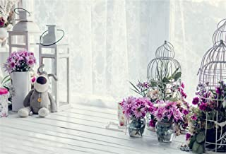 Leyiyi 7x5ft Photography Background Happy Valentine's Day Backdrop Wedding Ceremony Flora Room Interior Valentine's Day Decoration Doll Flowerpot Marriage Proposal Photo Portrait Vinyl Studio Prop