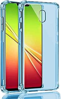 Galaxy J7 2018/J7 Refine/J7 V 2nd Gen/J7 Aero/J7 Aura/J7 Top/J7 Star Case, SKTGSLAMY Soft TPU Case Crystal Transparent Slim Anti Slip Case Back Protector Case Cover for J7 2018 (Blue)